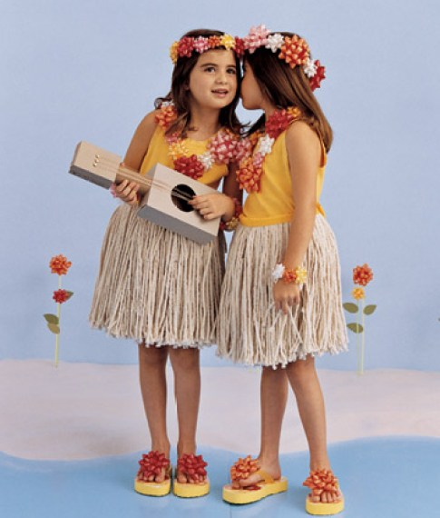 hula girls costume via martha Homemade Costume Ideas for Halloween