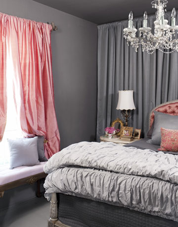 gray bedroom small via cl Living In and Loving a Small Space