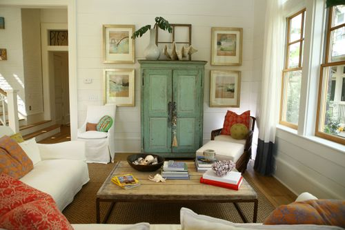 green armoire via simplyseleta typepad Decorating Around the Television