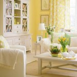 yellow sunshine living room via sunset
