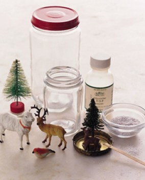 diy snowglobes via martha stewart Make Your Own Snow Globes