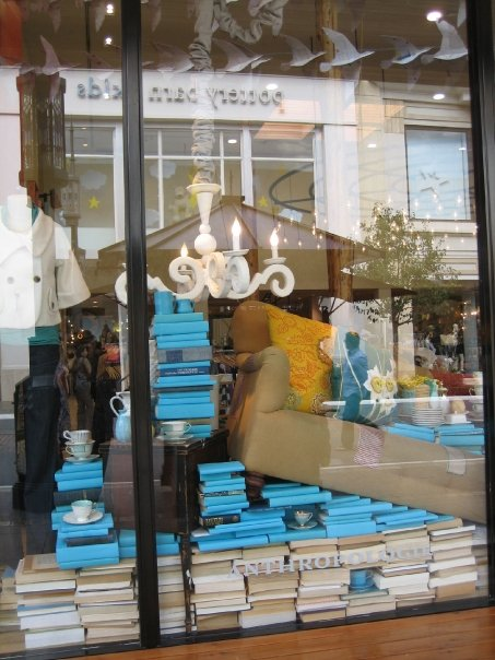 anthropologie styling with books via julie brainard Can Your Kindle Do THIS???