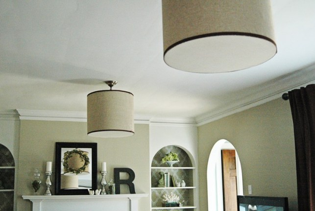 pair of hanging drum shades via 5isthemagicnumber blogspot 1024x680 How to Hang a Drum Shade