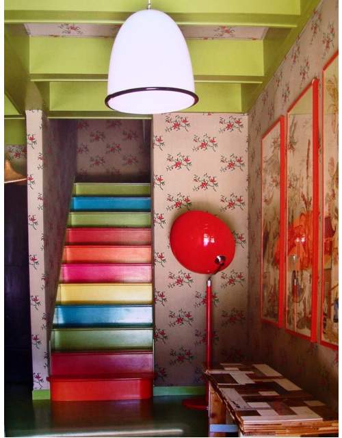paintedStairs via frecklewonder Take A Chance On Your Stairs