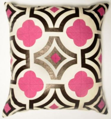 pink quatrefoil pillow by claytongrayhome Get Lucky with a Little Quatrefoil