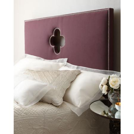 quatrefoil headboard from Horchow Get Lucky with a Little Quatrefoil