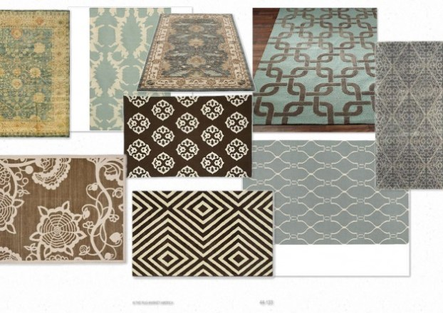 OB Rug Options1 A Virtual Design Inspired by Benjamin Moores Turquoise Mist