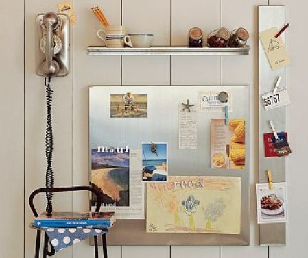 magnetic board via ohmyapartment Dont Use Chalkboard and Magnetic Paint Until You Read This!