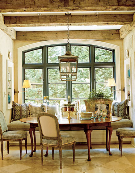 breakfast room mj donohue via tradhome Bigger Lighting is Better Lighting