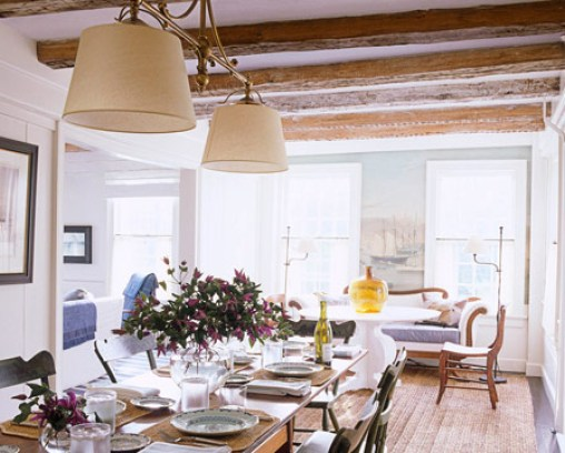 rustic elegant dining room tom scheerer via hb Bigger Lighting is Better Lighting