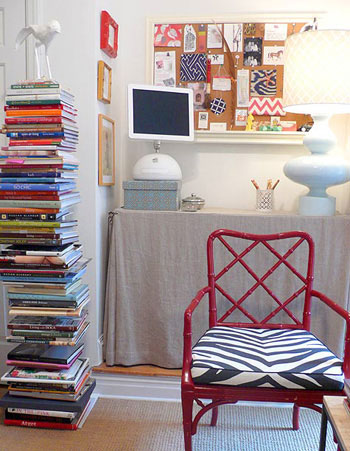 designsponge via carlamossinteriors blogspot When The Books are Stacked in Your Favor