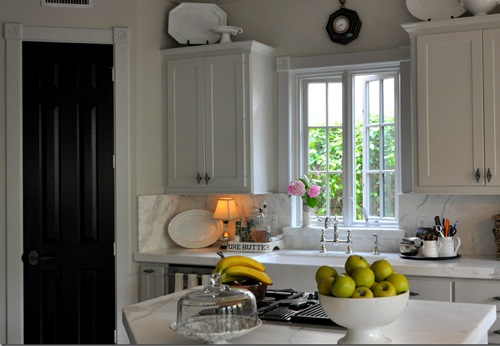 CDT kitchen w black door by cote de texas Designer Secret for Instant Sophistication!
