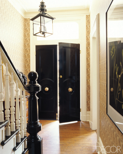 black door via elle decor Designer Secret for Instant Sophistication!