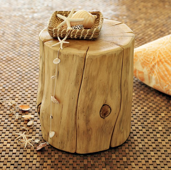 natural tree stump side table west elm How to Add Enchantment to Your Home