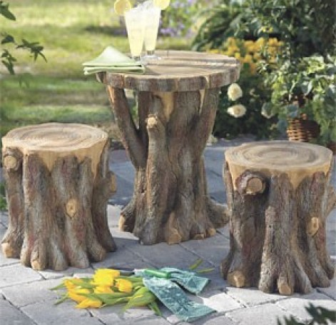 tree stump table via kaboodle How to Add Enchantment to Your Home