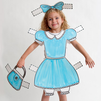 paper doll halloween costume via family fun Homemade Costume Ideas for Halloween