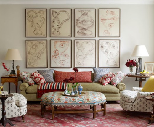 eclectic living room via hb Why The Decorologist Says No to the Sofa & Loveseat Combo