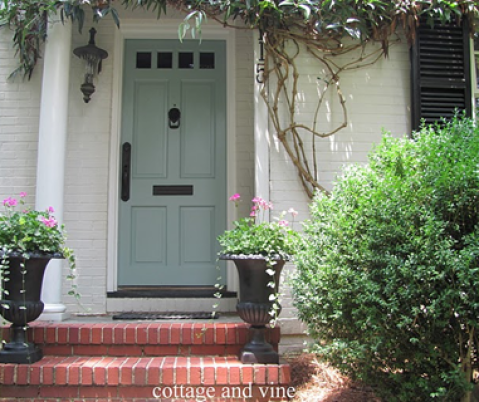 wythe blue door via homeandharmony blogspot cottage and vine2 Nashville Color Expert Announces 2012 Color of the Year: Wythe Blue