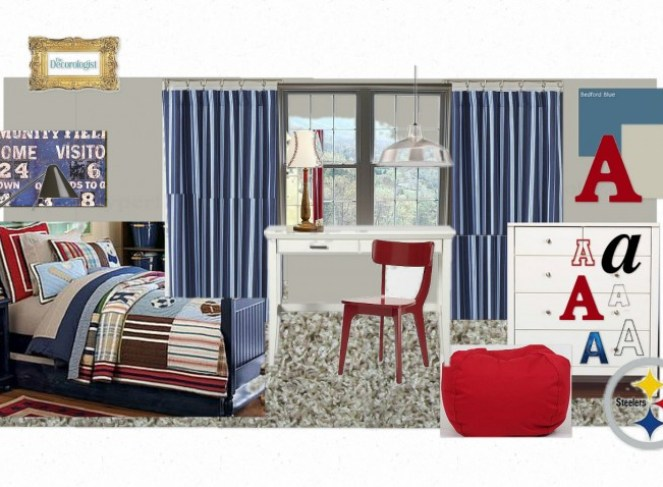 OB Alexs Bedroom2 1024x652 Childs Play   A Virtual Design for Boys Room