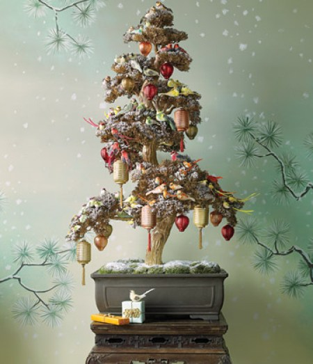 asian christmas tree bonsai via martha Oh Christmas Theme, Oh Christmas Theme . . .