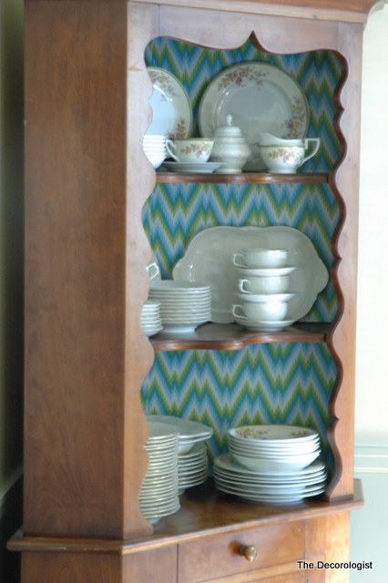 DSC 3850 How to Spruce Up a Hutch with Shelf Liner