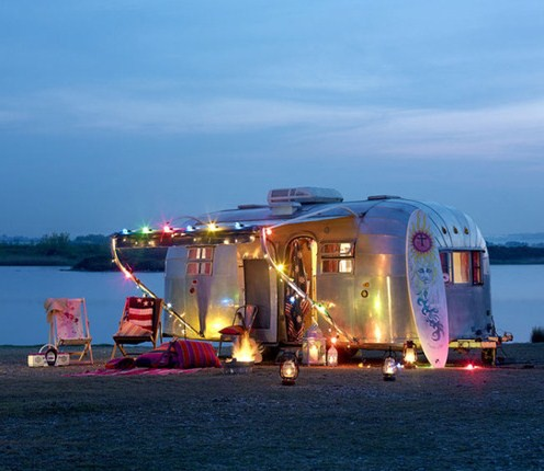 airstream trailer on beach from 27 media tumblr Pipe Dreams, Airstreams, and Pinterest