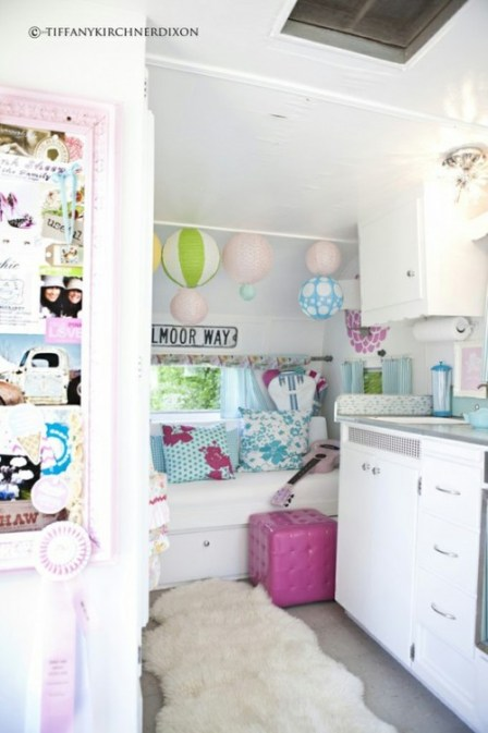 pretty airstream interior via houseofturquoise Pipe Dreams, Airstreams, and Pinterest