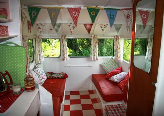 retro airstream interior via snailtrail co uk Pipe Dreams, Airstreams, and Pinterest