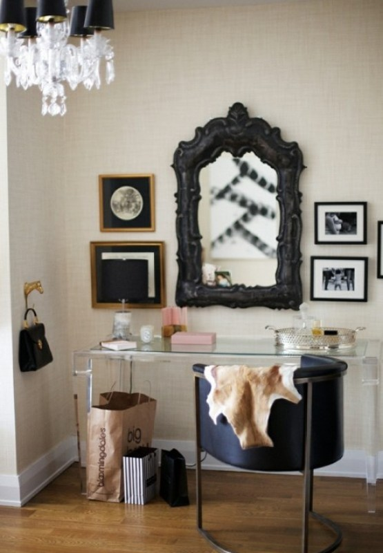 black framed mirror via ruemag I Want to Paint It Black