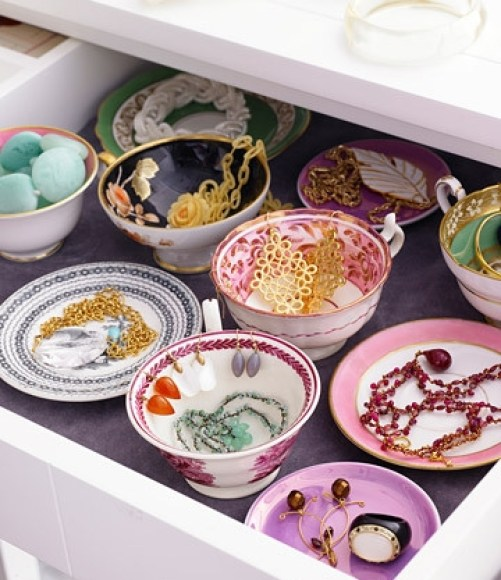 teacups for jewelry display Even a Compulsive Collector Can Be Organized