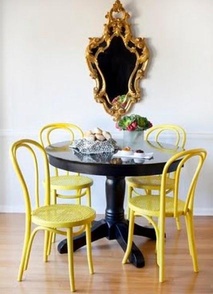 Dayka Robinson Designs Yellow Chairs via queenofcraigslist DIY Designer Chairs