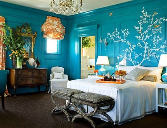 turquoise bedroom via hometolife co za What The Bachelor Can Teach You About Decorating