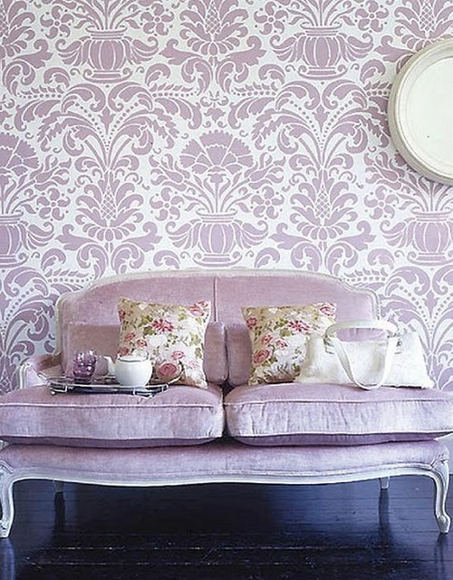 purple lavender wallpaper My Closet Makeover Reveal
