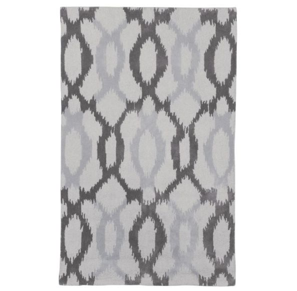 ikat rug Is Your Area Rug Too Small?  No Problem