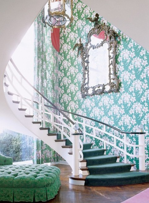 dorothy draper emerald green The Most On Trend Family of the Year