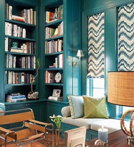 emerald green library The Most On Trend Family of the Year