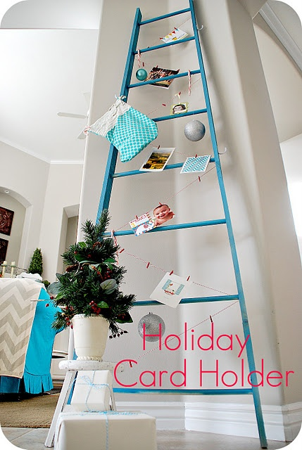 ladderbigger Displaying Christmas Cards