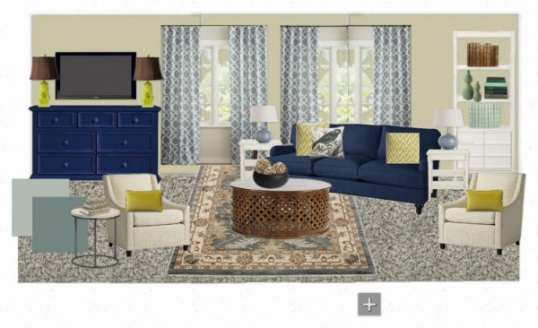 OB Jennifer B. Living Room 600x366 Inspiration for an Updated Living Room