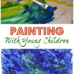 Painting with young children
