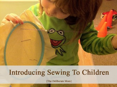 How to introduce sewing to young children. #kids #activities #sewing #homeschooling