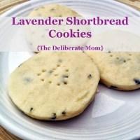 Lavender Shortbread Cookies
