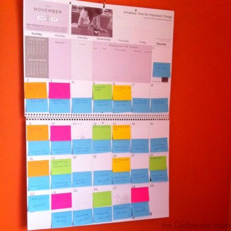 My blogging calendar