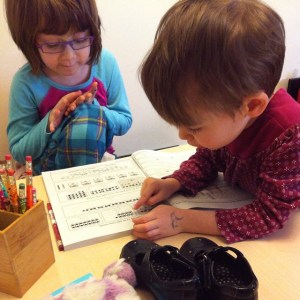 I love this #homeschooling moment. Learning in their PJs, a…