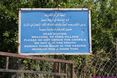 village/farm walk sign