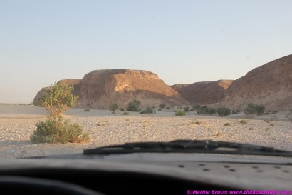 the wadi bed narrows after the campsite