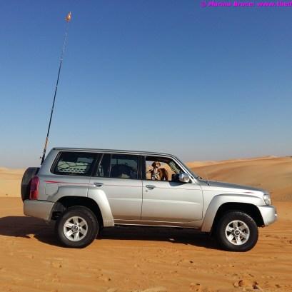 Dune bashing in Liwa