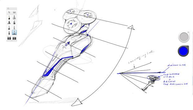 sketching razor-converging lines perspective-sketchbook pro-a