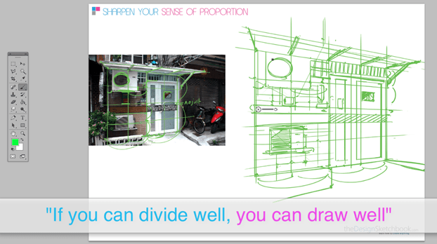 How to draw an hostel - perspective divison technique 11