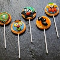 Fun Halloween Monster Lollipops
