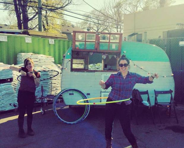 Alleah Webb and her Drifter Coffee trailer. Image courtesy of DrifterCoffee.squarespace.com